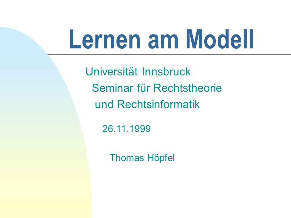 Universität Innsbruck Seminar für Rechtstheorie und Rechtsinformatik