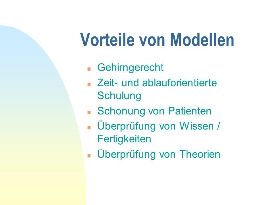 Vorteile von Modellen Gehirngerecht
