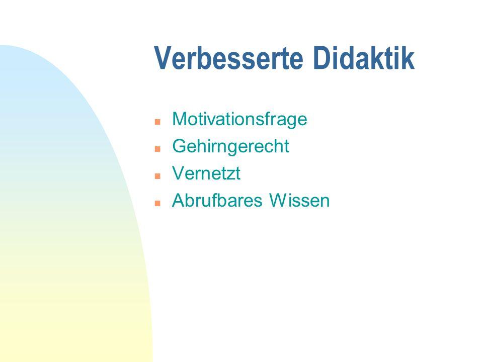 Verbesserte Didaktik Motivationsfrage Gehirngerecht Vernetzt