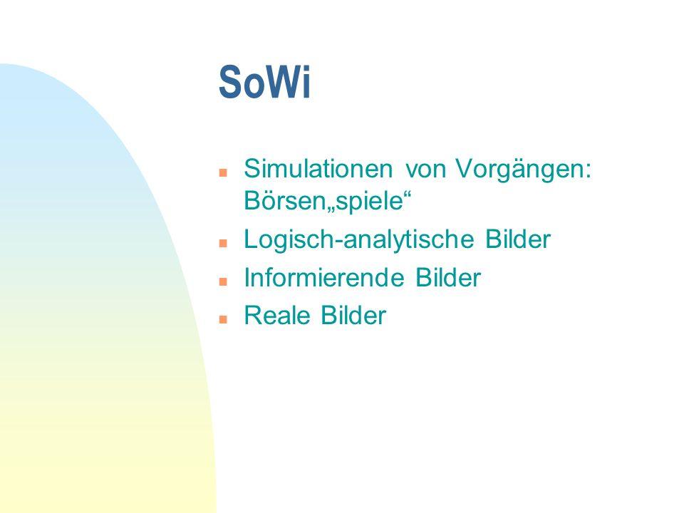 """SoWi Simulationen von Vorgängen: Börsen""""spiele"""