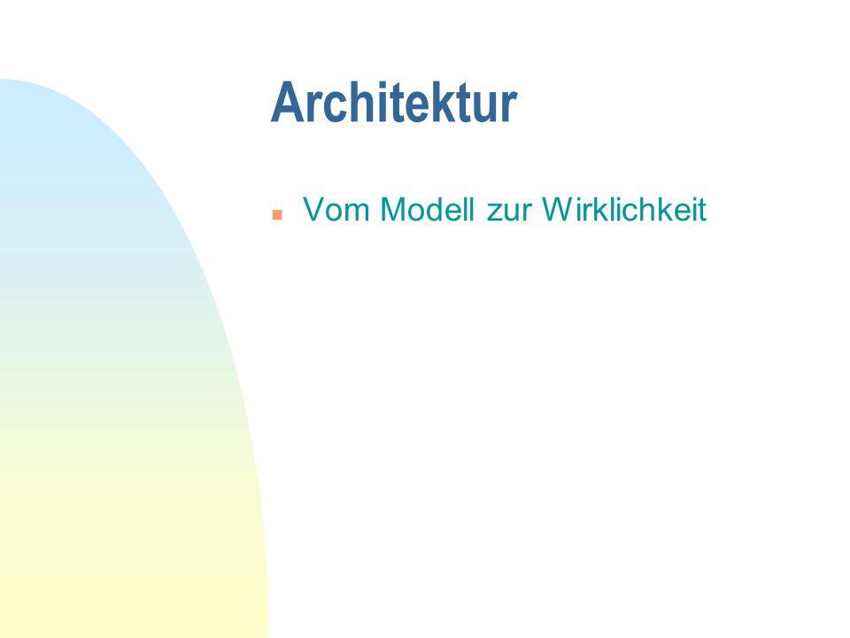 Architektur Vom Modell zur Wirklichkeit