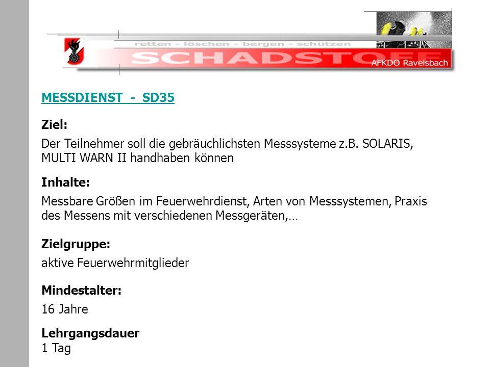 Schadstoffeinsatz MESSDIENST - SD35
