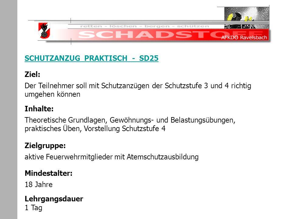 Schadstoffeinsatz SCHUTZANZUG PRAKTISCH - SD25