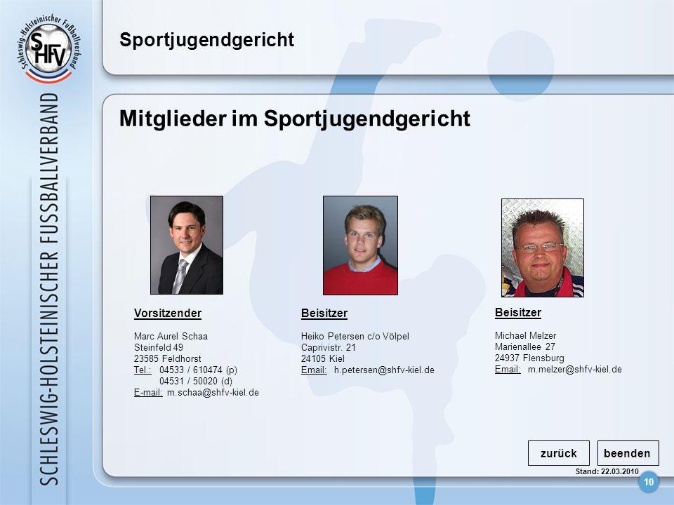 Mitglieder im Sportjugendgericht