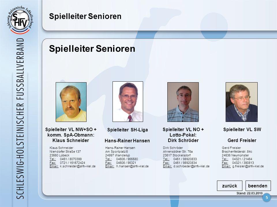 Spielleiter Senioren Spielleiter Senioren Spielleiter VL NW+SO +