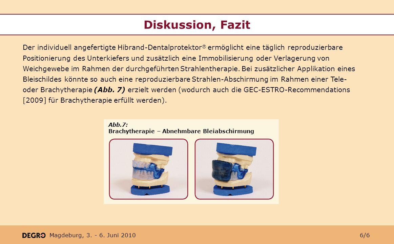 Diskussion, Fazit
