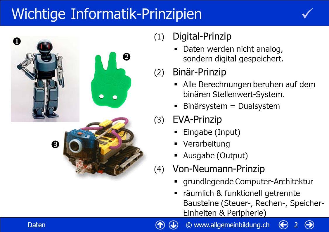 Wichtige Informatik-Prinzipien