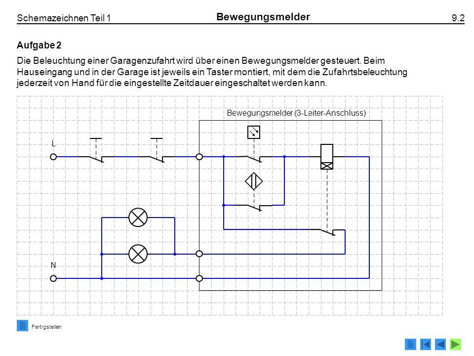Bewegungsmelder (3-Leiter-Anschluss)