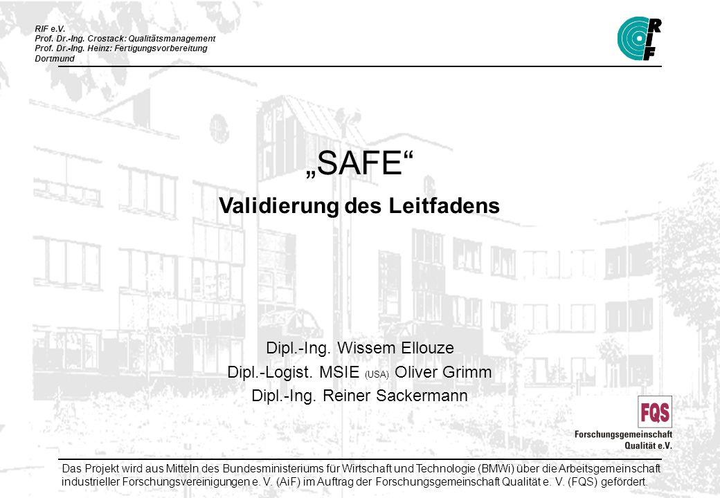 """SAFE Validierung des Leitfadens"