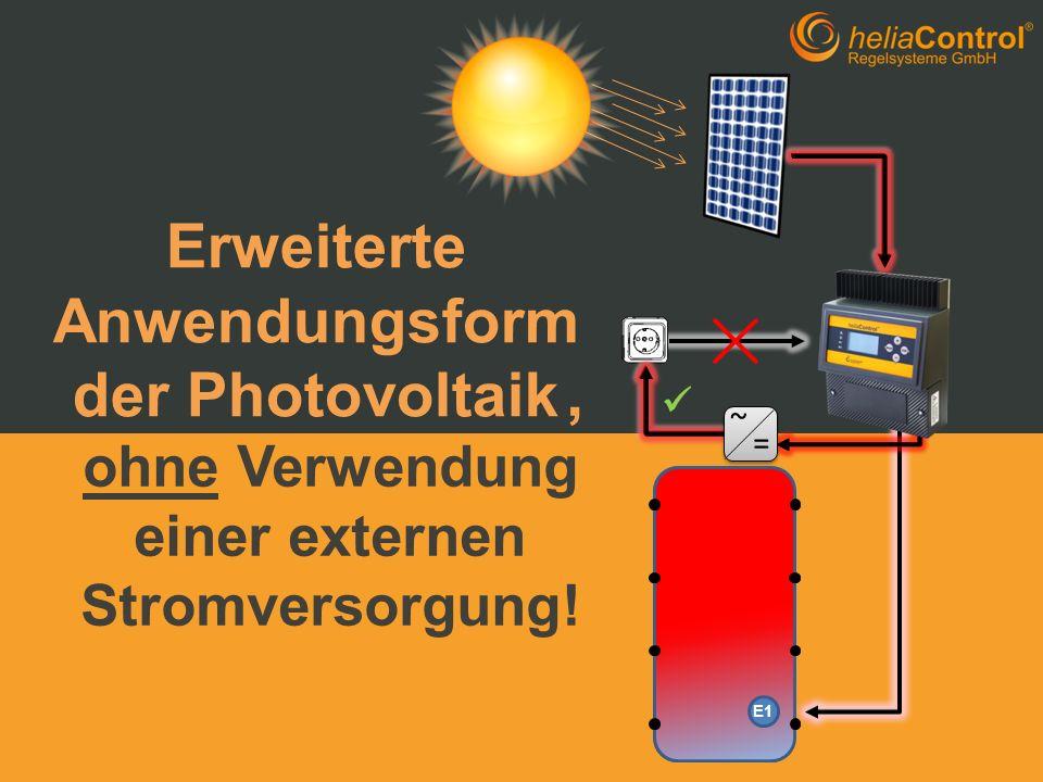 Erweiterte Anwendungsform der Photovoltaik