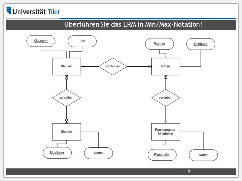 Überführen Sie das ERM in Min/Max-Notation!
