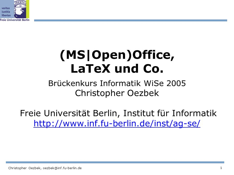 (MS|Open)Office, LaTeX und Co