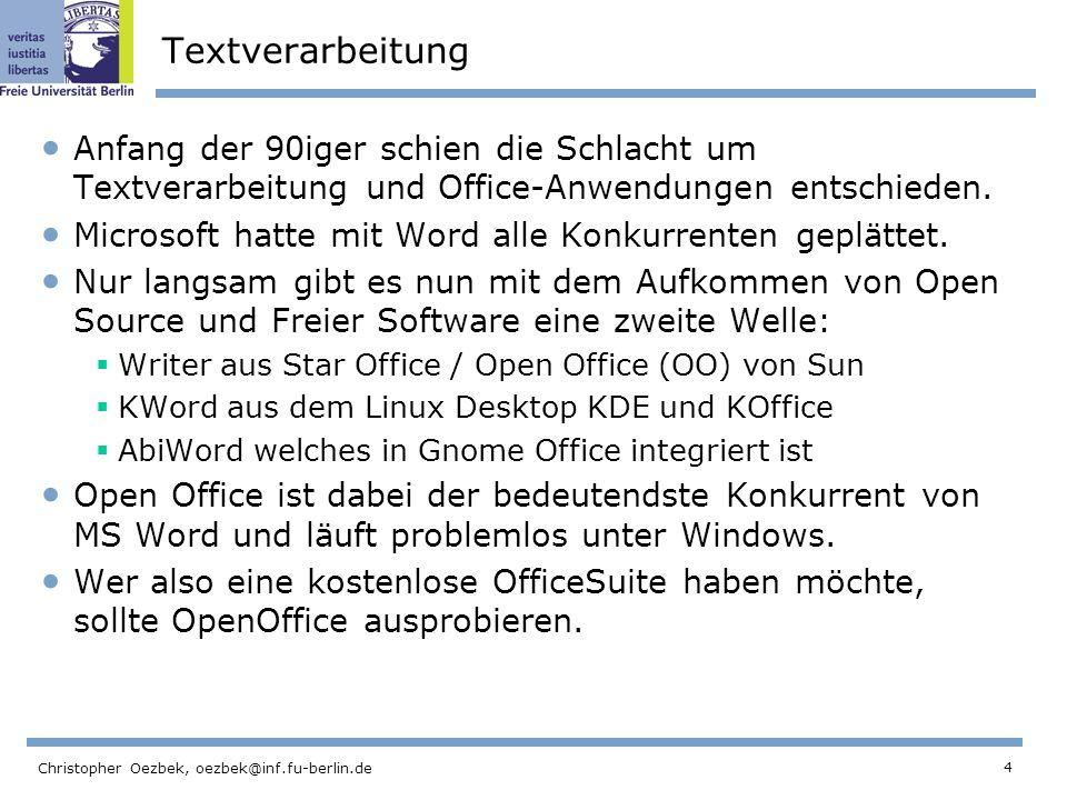 Textverarbeitung Anfang der 90iger schien die Schlacht um Textverarbeitung und Office-Anwendungen entschieden.