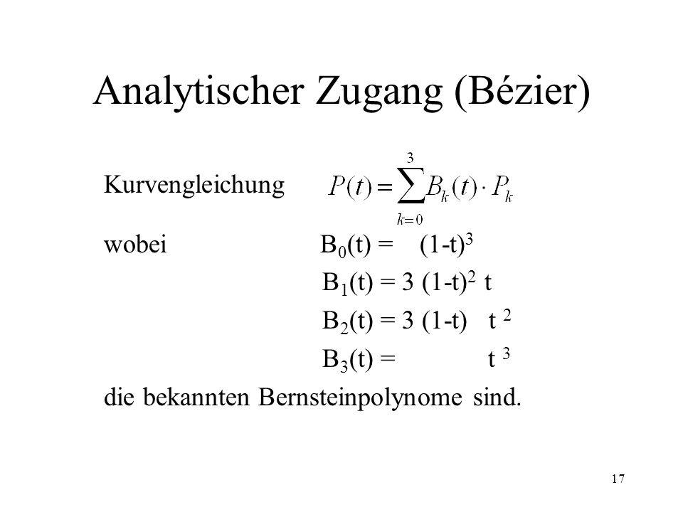 Analytischer Zugang (Bézier)