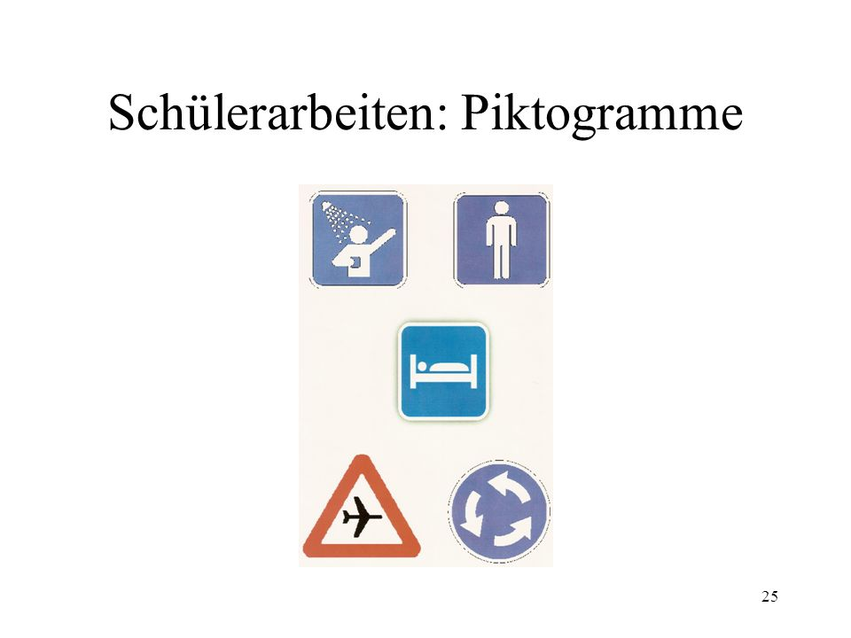 Schülerarbeiten: Piktogramme