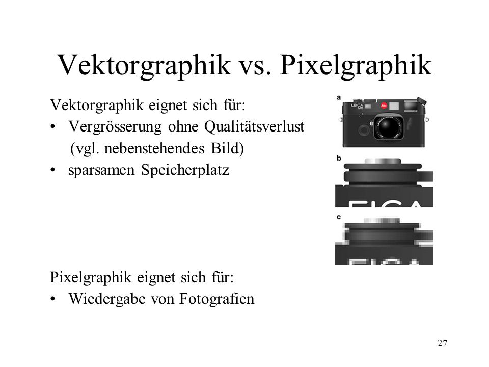 Vektorgraphik vs. Pixelgraphik