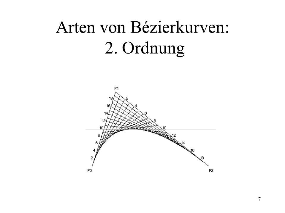Arten von Bézierkurven: 2. Ordnung