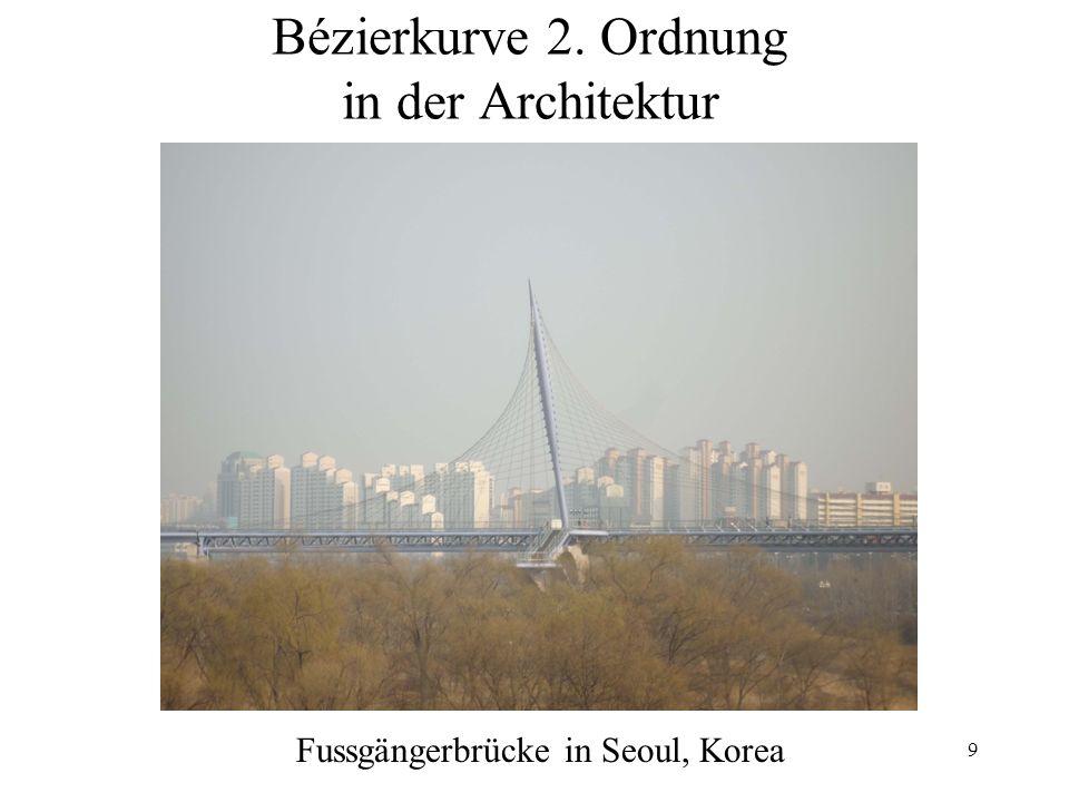 Bézierkurve 2. Ordnung in der Architektur