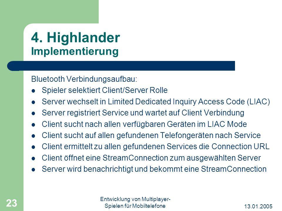 4. Highlander Implementierung