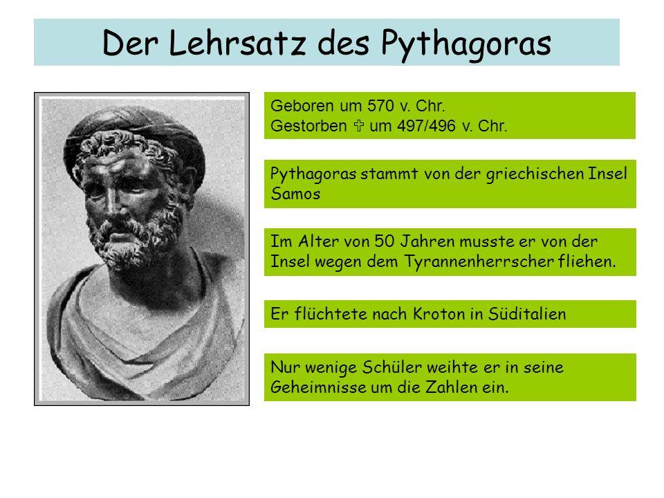 Der Lehrsatz des Pythagoras