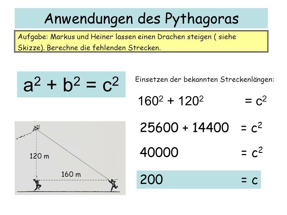 Anwendungen des Pythagoras