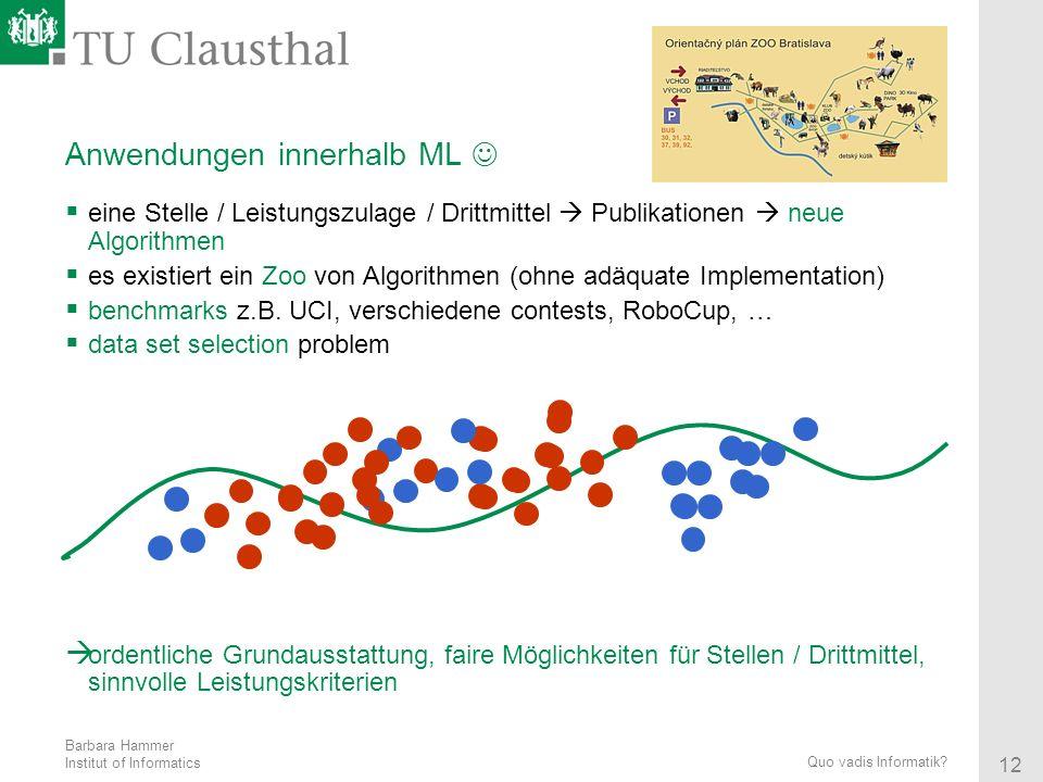 Anwendungen innerhalb ML 