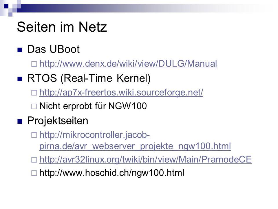 Seiten im Netz Das UBoot RTOS (Real-Time Kernel) Projektseiten