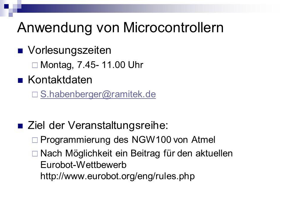 Anwendung von Microcontrollern