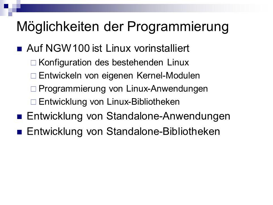 Möglichkeiten der Programmierung