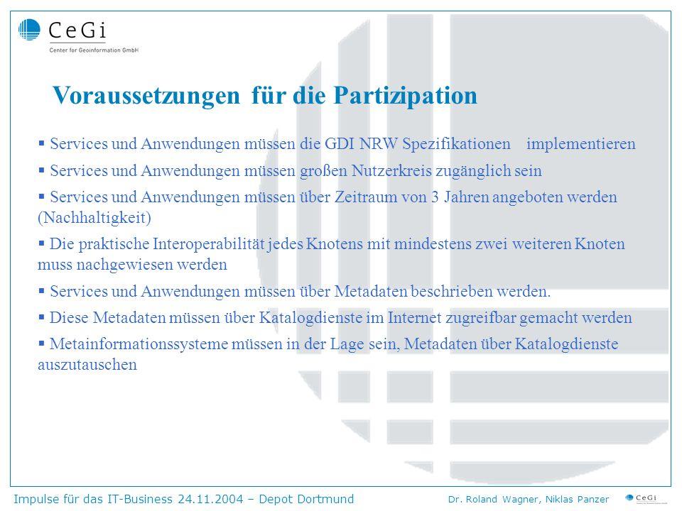 Voraussetzungen für die Partizipation