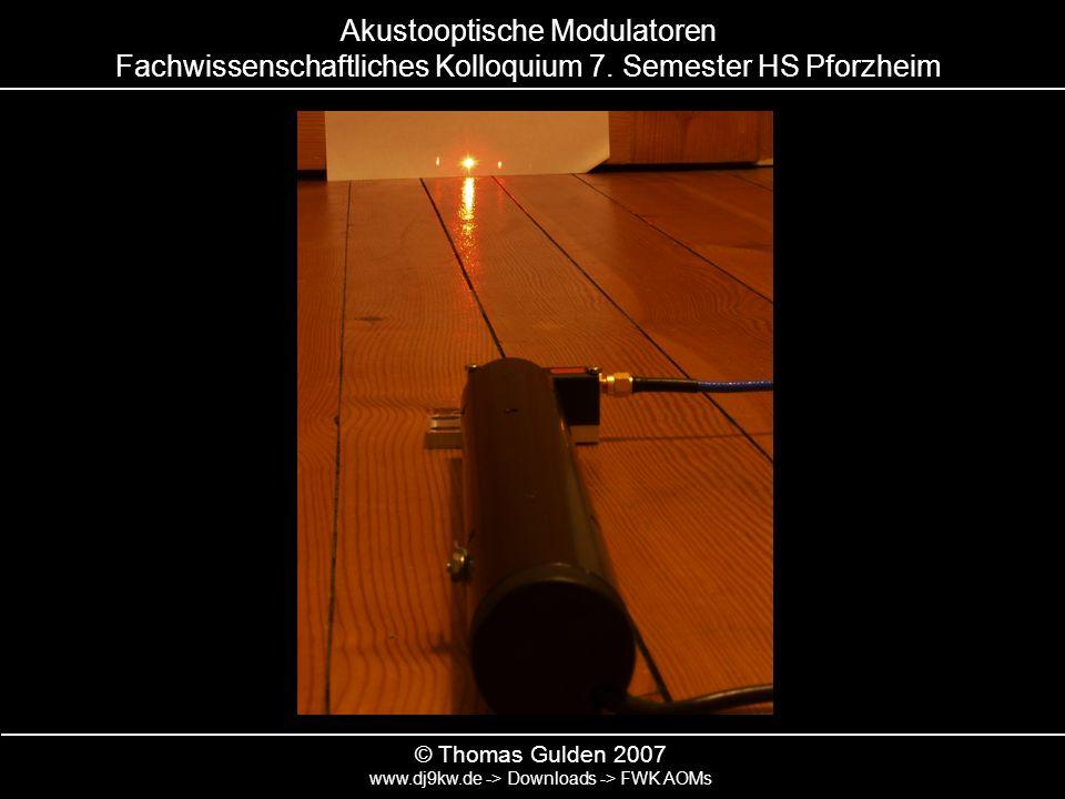 Akustooptische Modulatoren