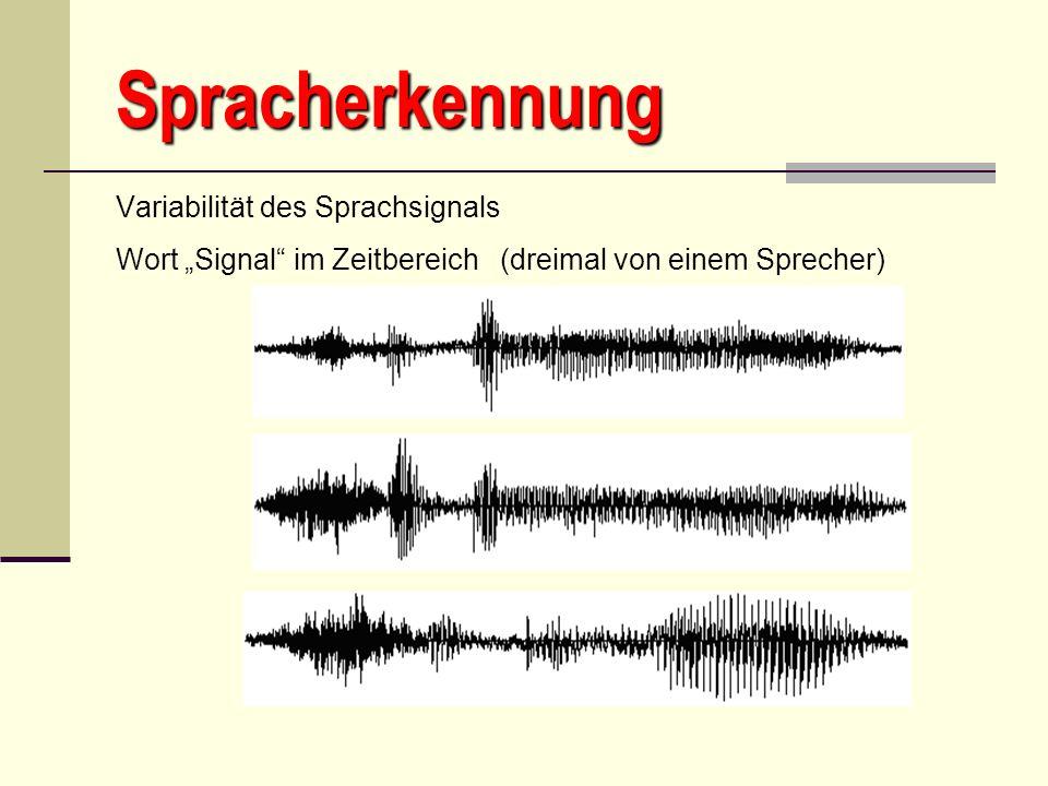 Spracherkennung Variabilität des Sprachsignals