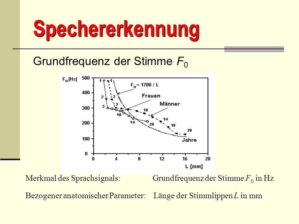 Spechererkennung Grundfrequenz der Stimme F0