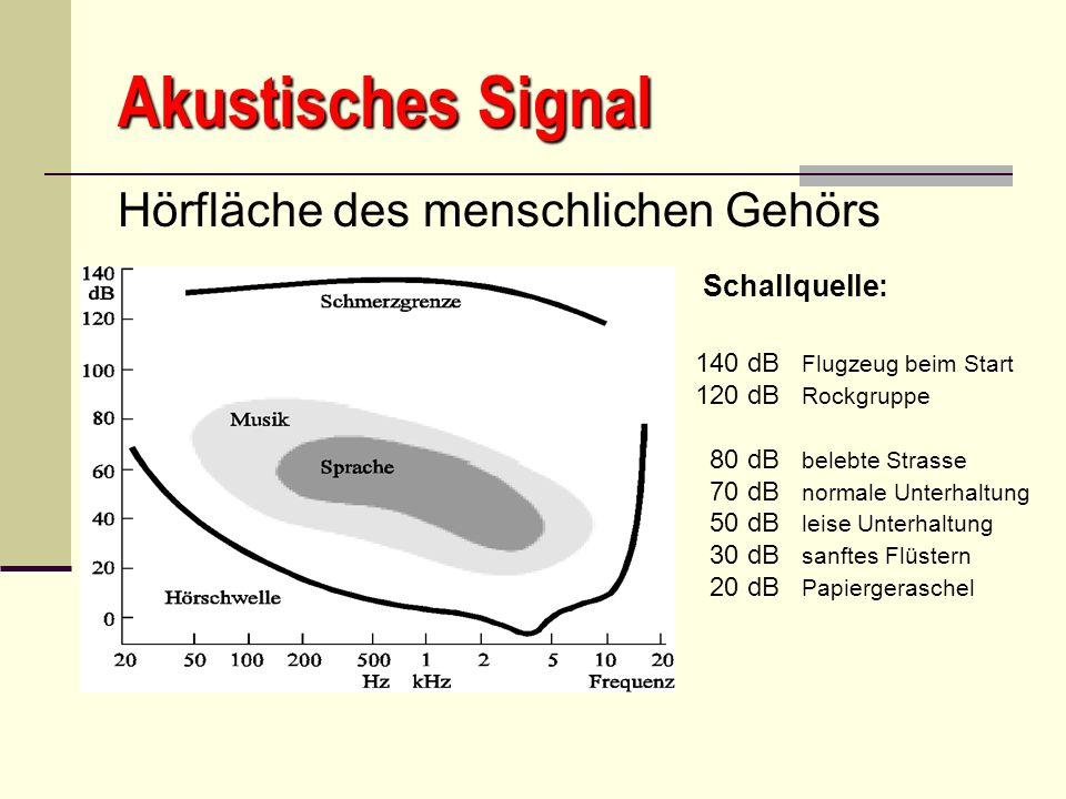 Akustisches Signal Hörfläche des menschlichen Gehörs Schallquelle: