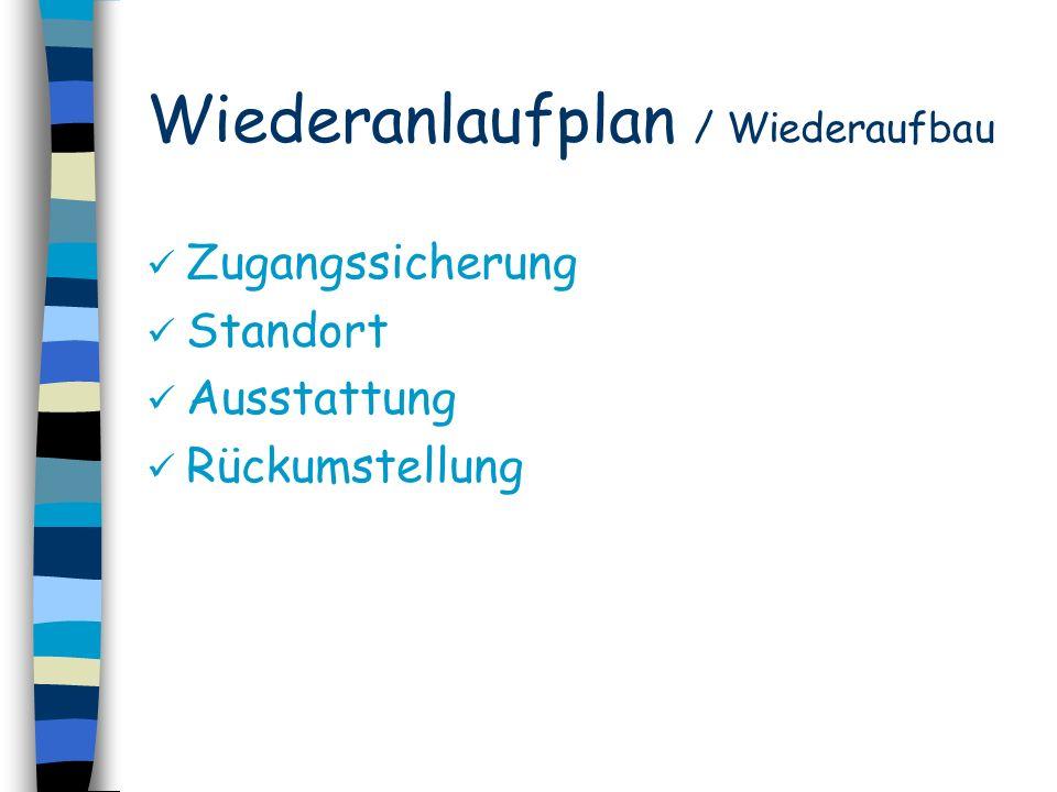 Wiederanlaufplan / Wiederaufbau