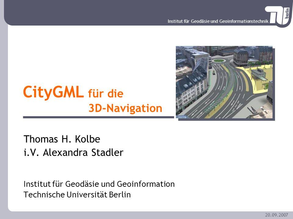 CityGML für die 3D-Navigation