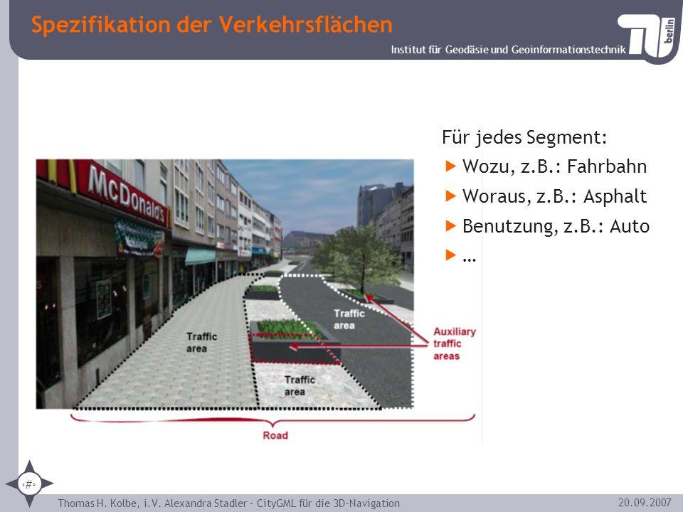 Spezifikation der Verkehrsflächen