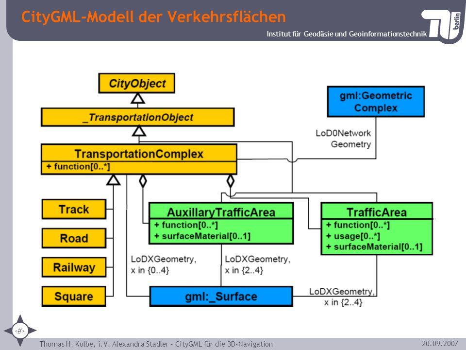 CityGML-Modell der Verkehrsflächen