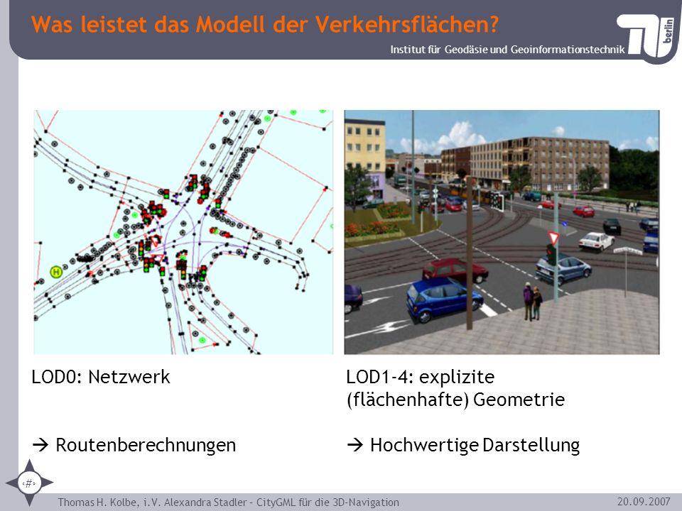 Was leistet das Modell der Verkehrsflächen