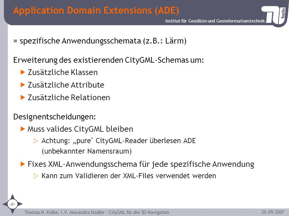 Application Domain Extensions (ADE)