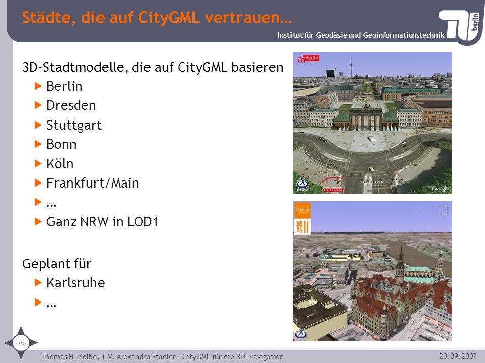 Städte, die auf CityGML vertrauen…