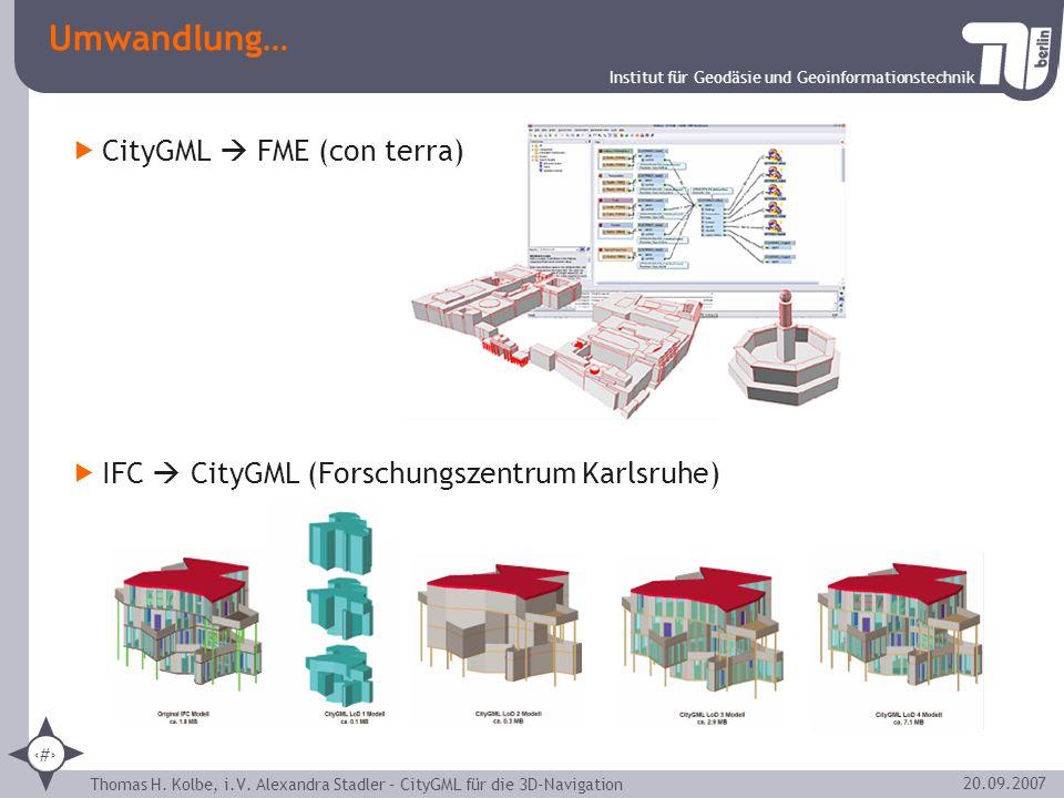 Umwandlung… CityGML  FME (con terra)