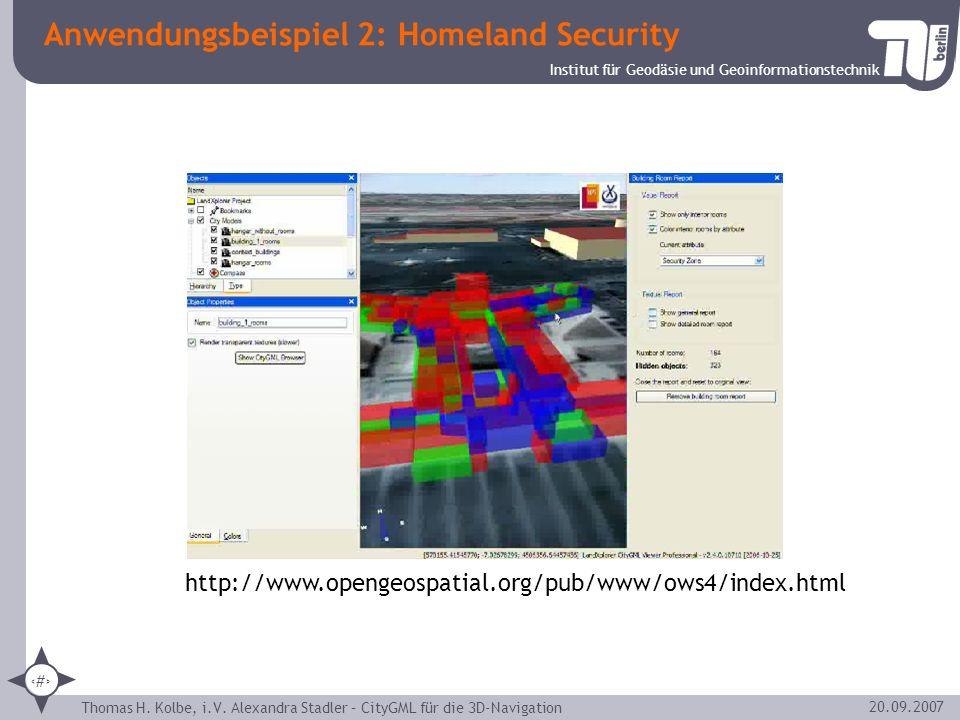 Anwendungsbeispiel 2: Homeland Security