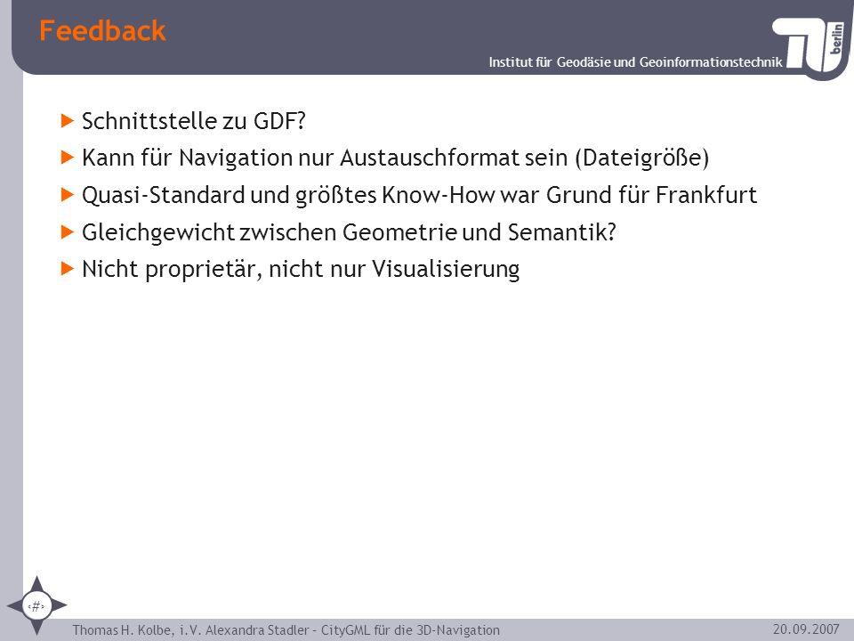 Feedback Schnittstelle zu GDF
