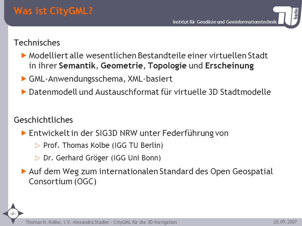 Was ist CityGML Technisches