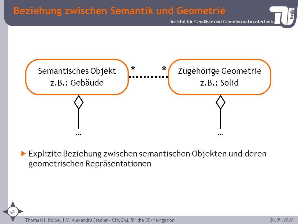 Beziehung zwischen Semantik und Geometrie
