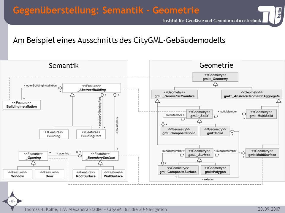 Gegenüberstellung: Semantik - Geometrie