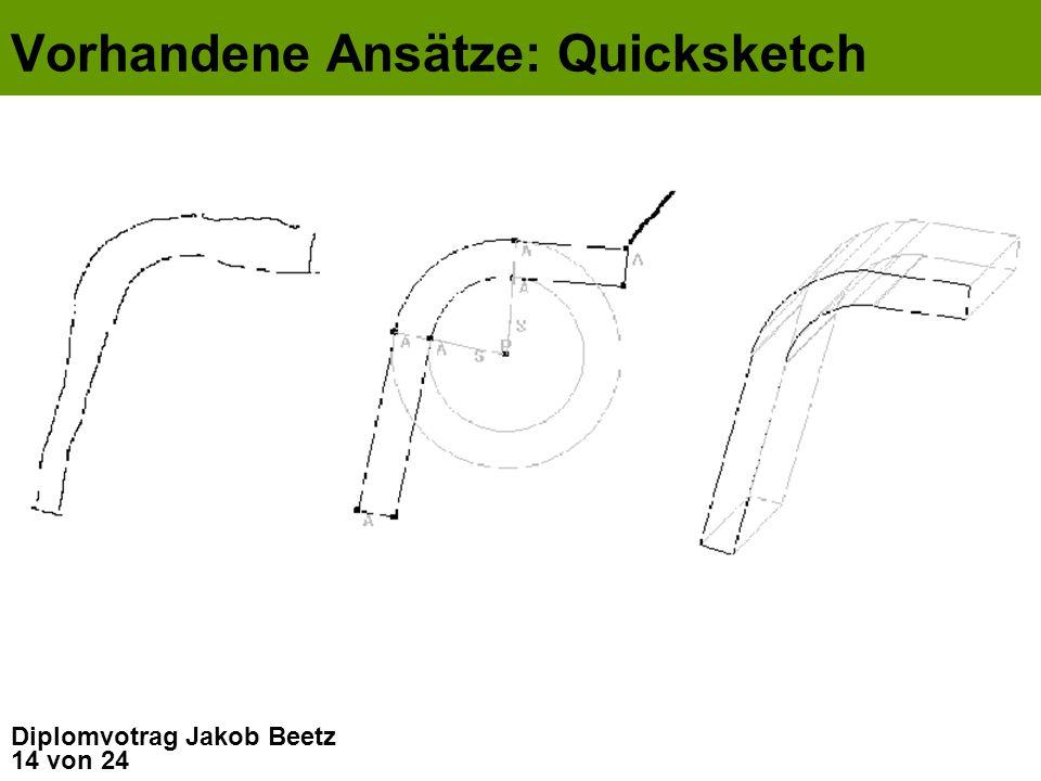Vorhandene Ansätze: Quicksketch