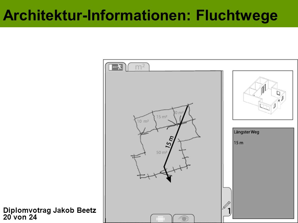 Architektur-Informationen: Fluchtwege