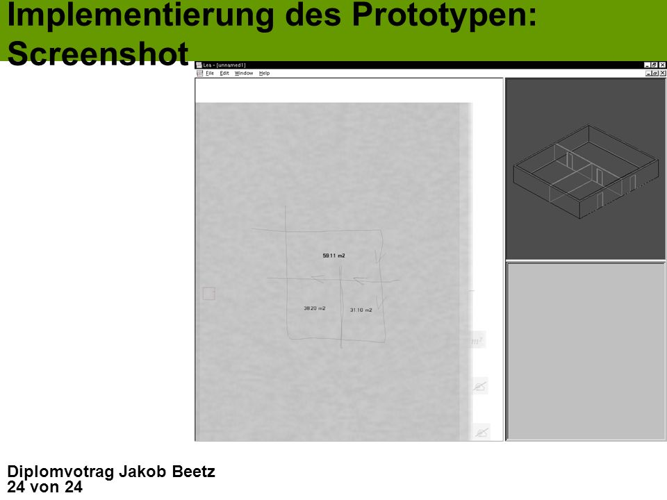 Implementierung des Prototypen: Screenshot